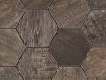 Dom-Mix Esagona Barn Wood Brown 35x37.4cm