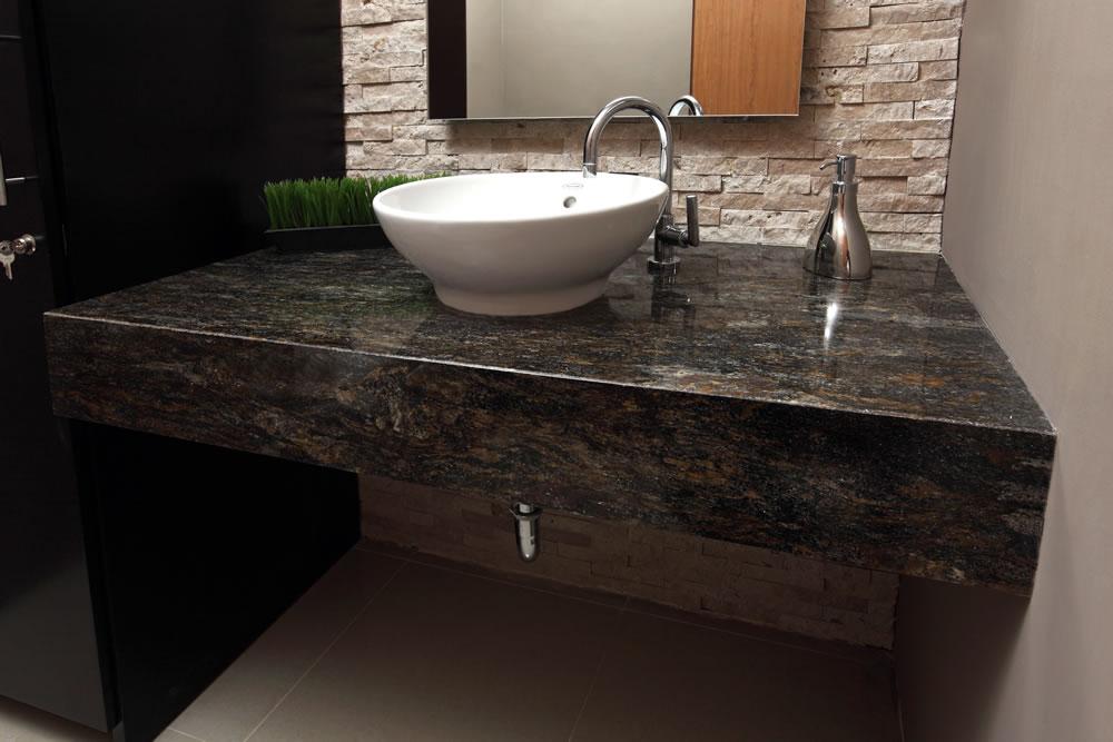 muebles para bano con granito
